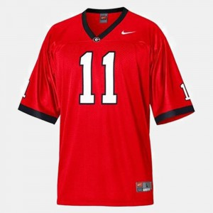 UGA Bulldogs #11 Youth Aaron Murray Jersey Red College Football Embroidery 500228-741