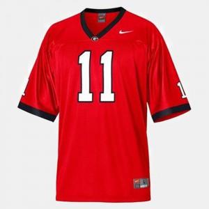 UGA Bulldogs #11 Mens Aaron Murray Jersey Red University College Football 439521-455