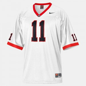 Georgia Bulldogs #11 For Men's Aaron Murray Jersey White Official College Football 789446-779