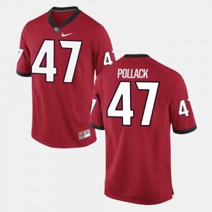 Georgia #47 For Men David Pollack Jersey Red Official Alumni Football Game 459302-553