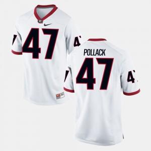Georgia #47 For Men David Pollack Jersey White University Alumni Football Game 945120-531