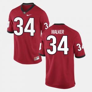 UGA Bulldogs #34 Men's Herschel Walker Jersey Red Alumni Football Game NCAA 233410-755
