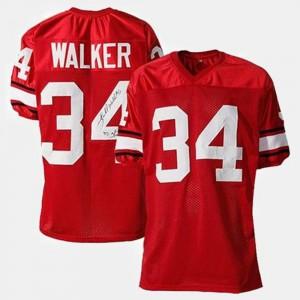 UGA Bulldogs #34 Men's Herschel Walker Jersey Red Stitch College Football 549769-314