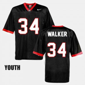 GA Bulldogs #34 Kids Herschel Walker Jersey Black NCAA College Football 286680-990