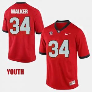 Georgia #34 Kids Herschel Walker Jersey Red College Football College 741551-565