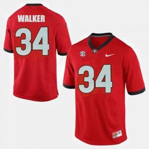 Georgia Bulldogs #34 Men Herschel Walker Jersey Red Stitch College Football 330169-293