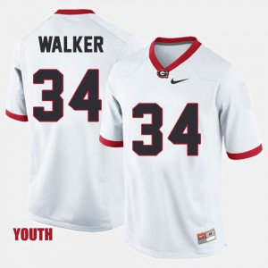 UGA #34 Youth Herschel Walker Jersey White Stitched College Football 588662-188