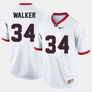 Georgia Bulldogs #34 Men Herschel Walker Jersey White Alumni College Football 672449-856