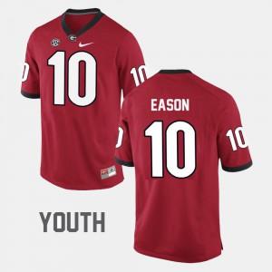 Georgia Bulldogs #10 Youth(Kids) Jacob Eason Jersey Red Alumni College Football 952964-769