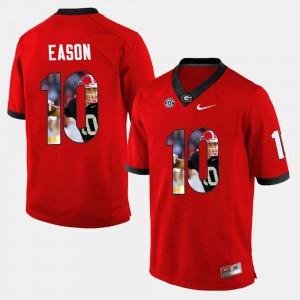 UGA #10 Men's Jacob Eason Jersey Red Alumni Player Pictorial 792060-566