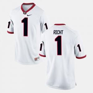 UGA Bulldogs #1 Men's Mark Richt Jersey White Alumni Alumni Football Game 827792-721