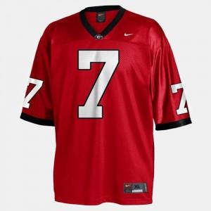 Georgia #7 Mens Matthew Stafford Jersey Red College Football College 261877-732
