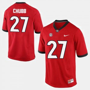 UGA #27 Mens Nick Chubb Jersey Red Stitched College Football 187194-700