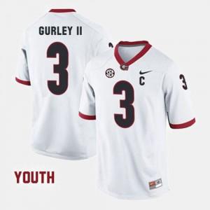 Georgia #3 Youth(Kids) Todd Gurley II Jersey White College Football Alumni 627995-610