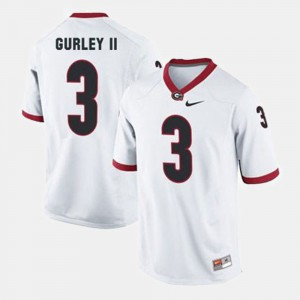 Georgia #3 Men's Todd Gurley II Jersey White Stitched College Football 195426-742