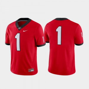UGA Bulldogs #1 For Men Jersey Red College Football Game 306056-276