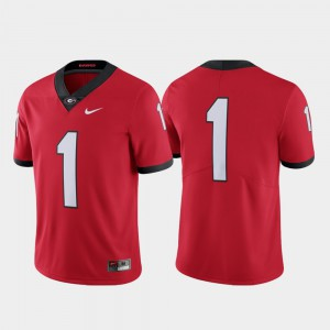 Georgia #1 Mens Jersey Red College Football Limited University 263963-440