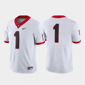 Georgia #1 For Men's Jersey White Stitch College Football Game 934791-500