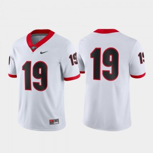 UGA #19 Mens Jersey White Official Game 770644-569