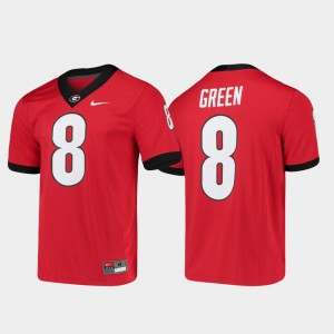 GA Bulldogs #8 Men's A.J. Green Jersey Red Stitched Alumni Player College Football Game 681067-855