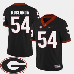 GA Bulldogs #54 For Men's Brandon Kublanow Jersey Black 2018 SEC Patch College Football College 595349-546