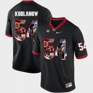 University of Georgia #54 Men's Brandon Kublanow Jersey Black College Pictorial Fashion 447047-296