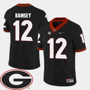 UGA #12 For Men's Brice Ramsey Jersey Black Alumni 2018 SEC Patch College Football 235941-603