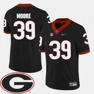 Georgia #39 Mens Corey Moore Jersey Black Stitch 2018 SEC Patch College Football 549673-531