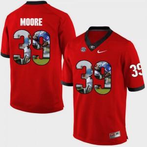 University of Georgia #39 Men Corey Moore Jersey Red Pictorial Fashion High School 983237-239