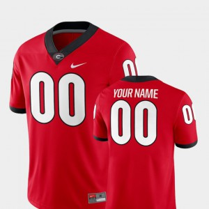 Georgia #00 Men's Customized Jerseys Red Official 2018 Game College Football 804133-575