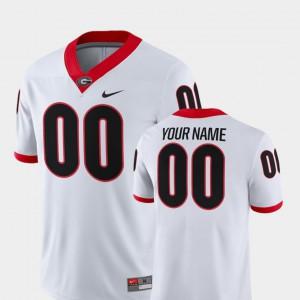 Georgia Bulldogs #00 For Men's Custom Jerseys White Embroidery 2018 Game College Football 338897-424