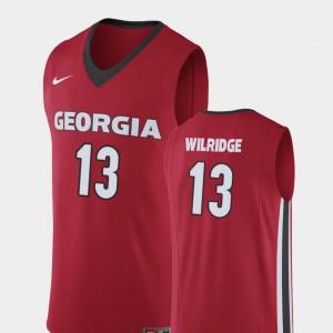 GA Bulldogs #13 Mens E'Torrion Wilridge Jersey Red Embroidery Replica College Basketball 244073-317