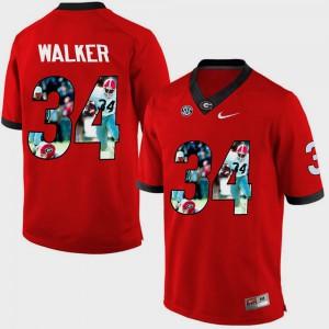 University of Georgia #34 Men Herschel Walker Jersey Red College Pictorial Fashion 156939-840