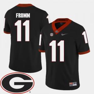 Georgia #11 Mens Jake Fromm Jersey Black Alumni College Football 2018 SEC Patch 996737-620
