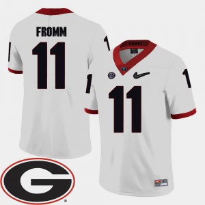 GA Bulldogs #11 Mens Jake Fromm Jersey White Stitch 2018 SEC Patch College Football 174535-431