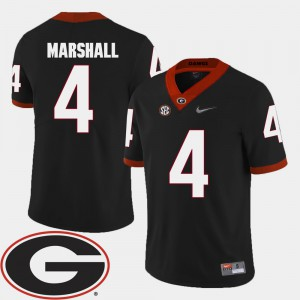 UGA #4 Men Keith Marshall Jersey Black 2018 SEC Patch College Football Stitched 491999-762