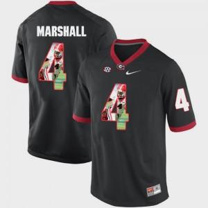 UGA Bulldogs #4 Men Keith Marshall Jersey Black University Pictorial Fashion 134281-547