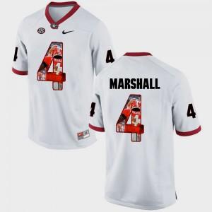 Georgia #4 Men Keith Marshall Jersey White Stitch Pictorial Fashion 644317-710