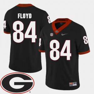 UGA Bulldogs #84 Mens Leonard Floyd Jersey Black Stitched 2018 SEC Patch College Football 874986-131