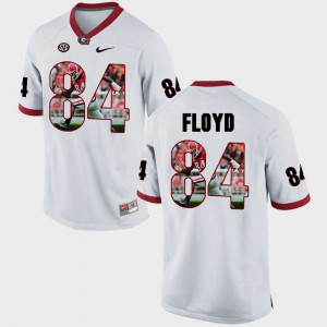 UGA #84 Mens Leonard Floyd Jersey White Official Pictorial Fashion 821256-243