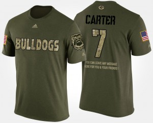 University of Georgia #7 For Men Lorenzo Carter T-Shirt Camo Stitch Short Sleeve With Message Military 356816-810
