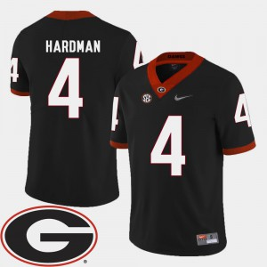 UGA Bulldogs #4 Mens Mecole Hardman Jersey Black Official 2018 SEC Patch College Football 120363-925