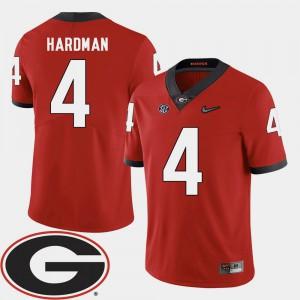 University of Georgia #4 Men Mecole Hardman Jersey Red High School College Football 2018 SEC Patch 284605-217