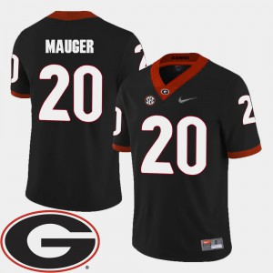 Georgia Bulldogs #20 Men's Quincy Mauger Jersey Black Player College Football 2018 SEC Patch 190585-378