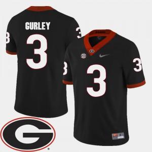 Georgia Bulldogs #3 Men's Todd Gurley Jersey Black 2018 SEC Patch College Football College 296831-410