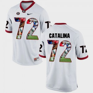UGA #72 For Men Tyler Catalina Jersey White Stitched Pictorial Fashion 787187-436