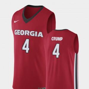 Georgia #4 Men's Tyree Crump Jersey Red Player College Basketball Replica 229721-293