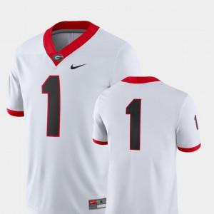 University of Georgia #1 Men Jersey White Player College Football 2018 Game 980684-411