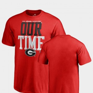 UGA Bulldogs Youth T-Shirt Red Embroidery Counter 2019 Sugar Bowl Bound 626221-659