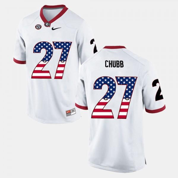 Georgia Bulldogs #27 Men's Nick Chubb Jersey White Stitched US ...